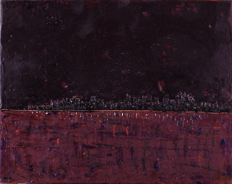 """2005  11""""x14""""  encaustic on wood panel <br><b>(mb)</b>"""