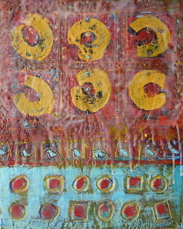 "2009 11""x 14"" encaustic on board (rr)"