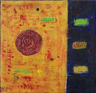 "2005 10""x10"" encaustic on board"