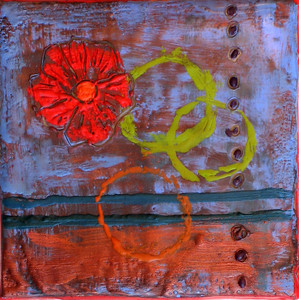 "2006  4""x4""  encaustic on canvas"