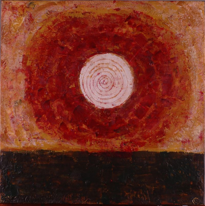 """2005 20""""x 20"""" encaustic on canvas <br><b>(ca)</b>"""