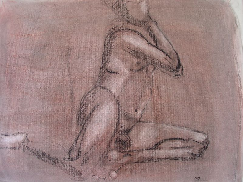 2002<br /> charcoal on paper