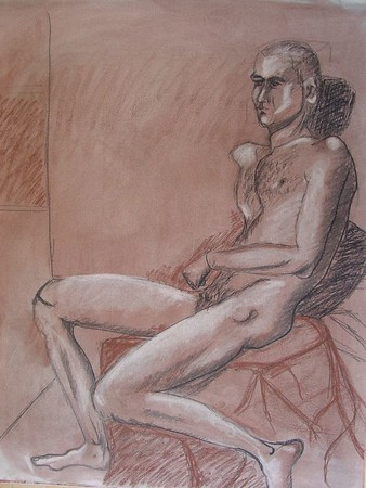 2002 charcoal on toned paper
