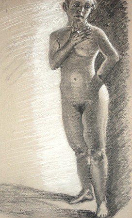 2006 charcoal on toned paper