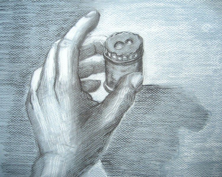 2006<br /> charcoal on toned paper
