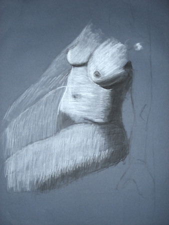 2007 charcoal on toned paper