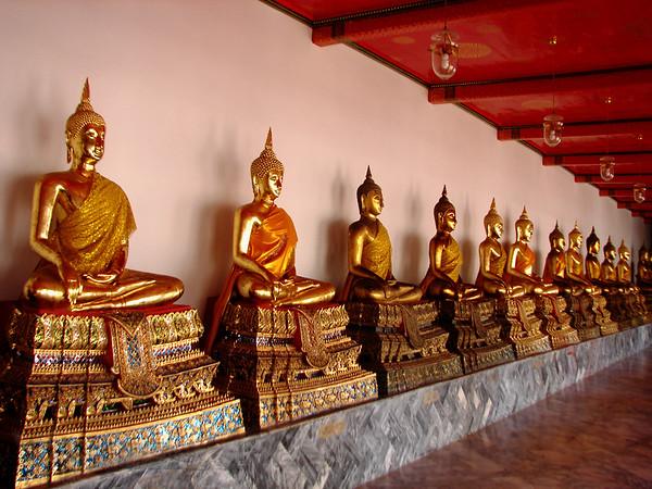 Gold Buddha Statues - Bangkok - Thailand