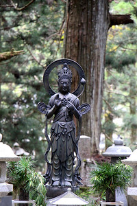 Buddha Sculpture in Cemetery