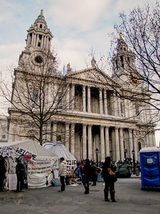 Protest at St Paul's Cathedral 2012