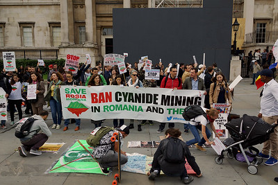 Protest Against Cyanide Mining of Gold in, Romania - 2013