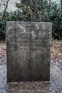 Box Hill Tombstone of Major Peter Labelliere