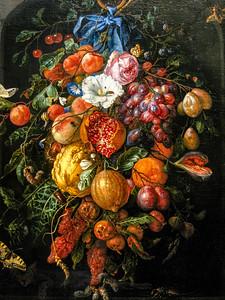 Festoon of Fruit and Flowers by Jan Davidsz De Heem