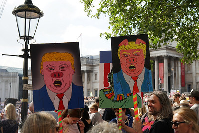 Anti Trump Visit Demonstration - London