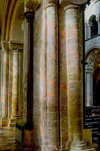 Stained Glass Light on Stone