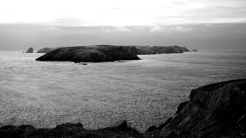Panorama of Skomer Island
