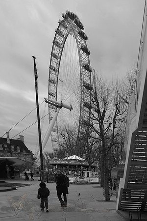 London Eye and Merry Go Round on the Southbank