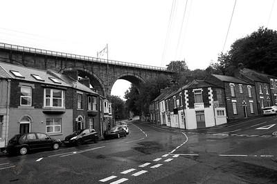 Railway Viaduct and Houses - Durham