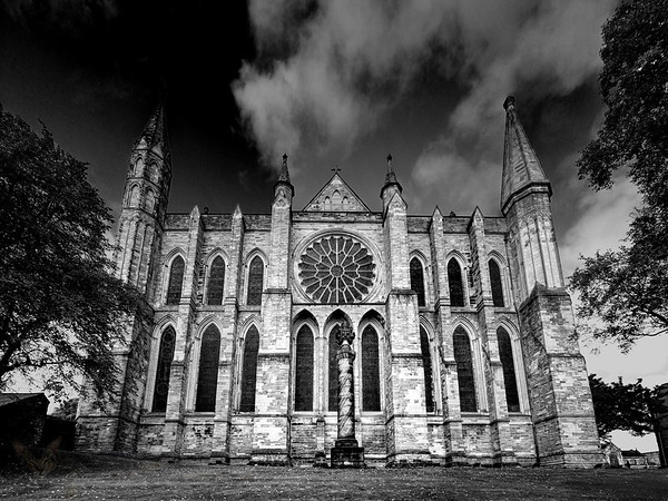 Durham Cathedral East Face - Monochrome
