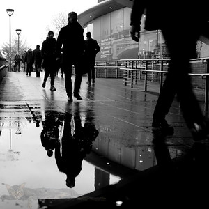 Walkers on the Southbank
