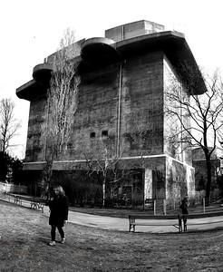 World War 2 Artillery Tower in Vienna