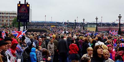 People Celebrating Queen Elizabeth II Diamond Jubilee