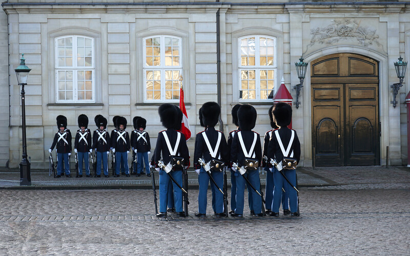 Changing the Guard at Amalienborg Palace