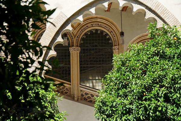 Window in Palacio de la Aljaferia