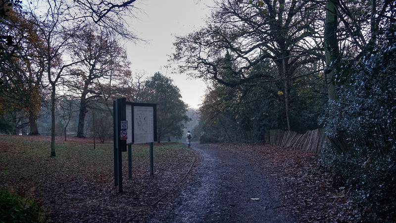 Cannizaro Park - Footpath and Sign