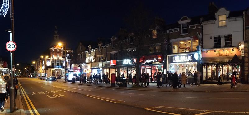 Wimbledon Broadway at Night