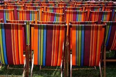 Hampton Court Flower Show Deckchairs