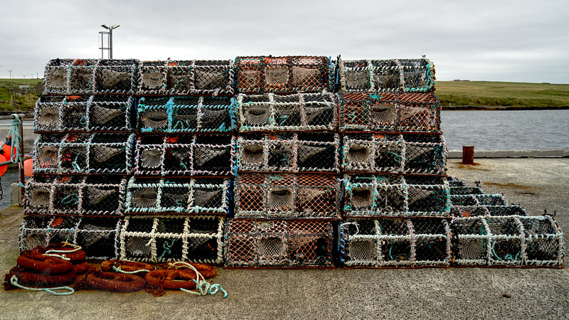 Egilsay - Egilsay Pier - Fishing Baskets