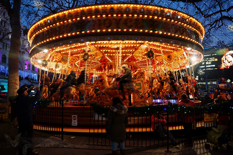 Merry go Round in Leicester Square, London