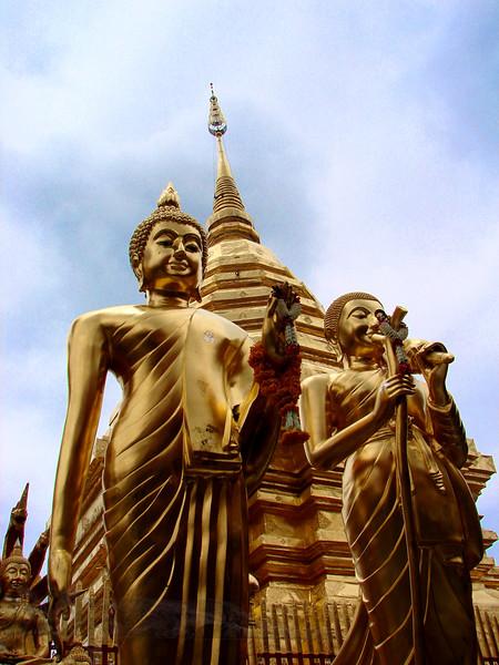 Gold Buddha Statues - Chiang Mai - Thailand