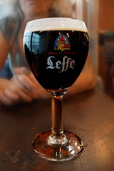 A Glass of Leffe Dark Beer