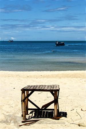 Stool on Ko Phan Ghan Beach