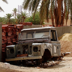 Land Rover Wreck in Tunisia