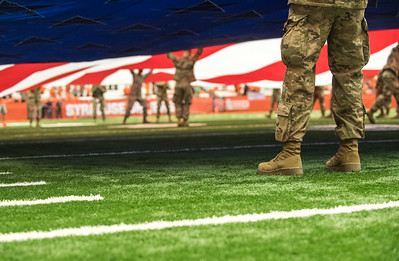 Military appreciation day was held at the football game at the Carrier Dome this past Saturday.