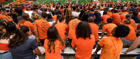 SU students hit the bleachers to turn the Dome into the Loud House.