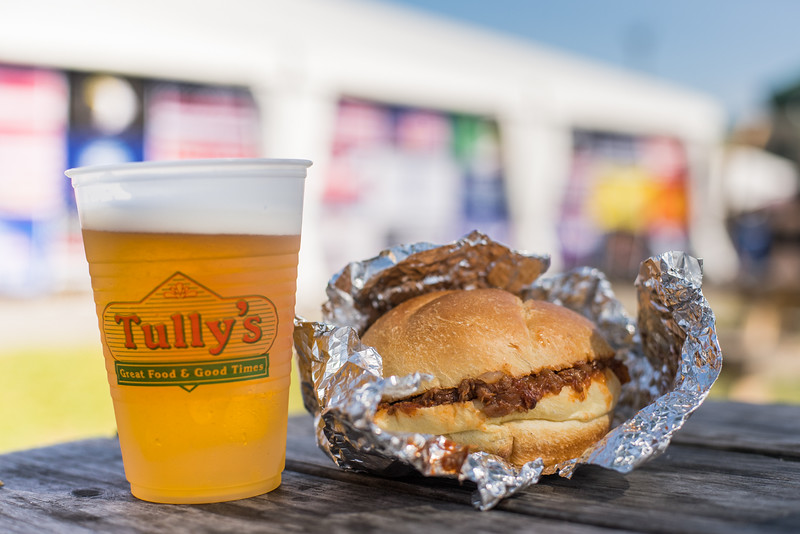 Every sandwich tastes better with a Tully's beer.