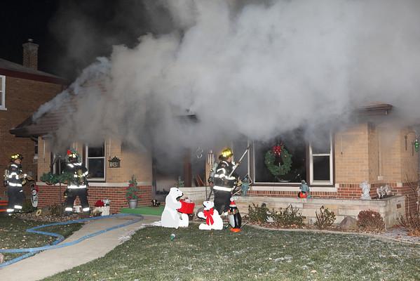 LaGrange Park Fire Department Box Alarm 1240 Cleveland December 11, 2011