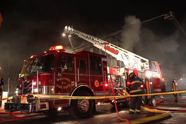 Whiting Fire Department Extra Alarm 119 Street and Sheridan January 20, 2013