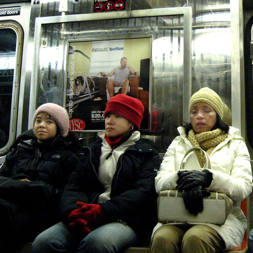 WINTER, NEW YORK CITY SUBWAY