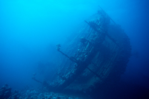 Wrack der Umbria, Rotes Meer, Sudan / Wreck of the Umbria, Red Sea