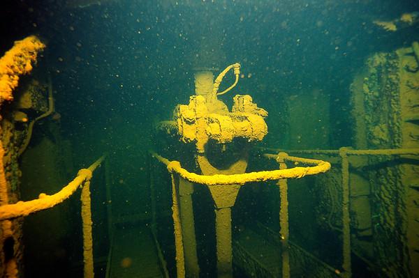 Wrack der Umbria, Maschinenraum, Rotes Meer, Sudan / Wreck of the Umbria, Engine room, Red Sea
