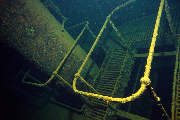 Wrack der Umbria, Maschinenraum, Rotes Meer, Sudan / Wreck of the Umbria, Engine room, Red Sea
