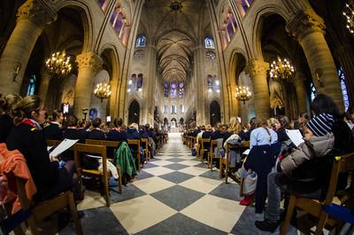 La messe à la cathédrale