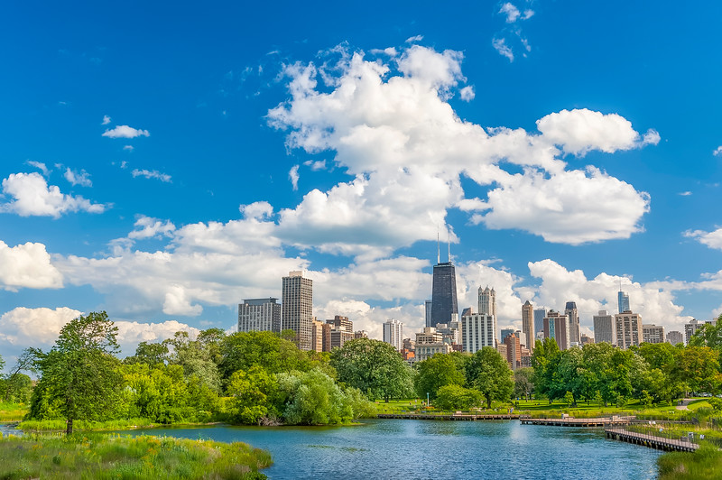 Sunny Day in  Lincoln Park