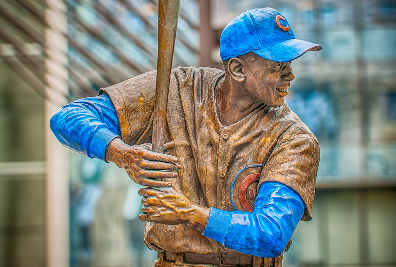 Ernie Banks Farewell - Statue by City Hall