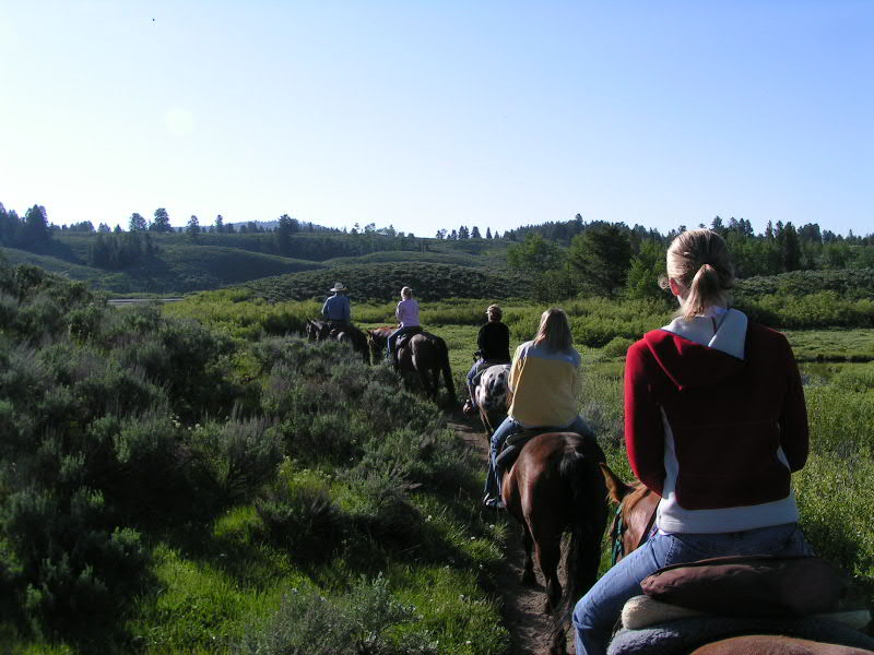 1. June 12, 2006. The two hour trail ride. Me, Pam and a mom with three daughters.