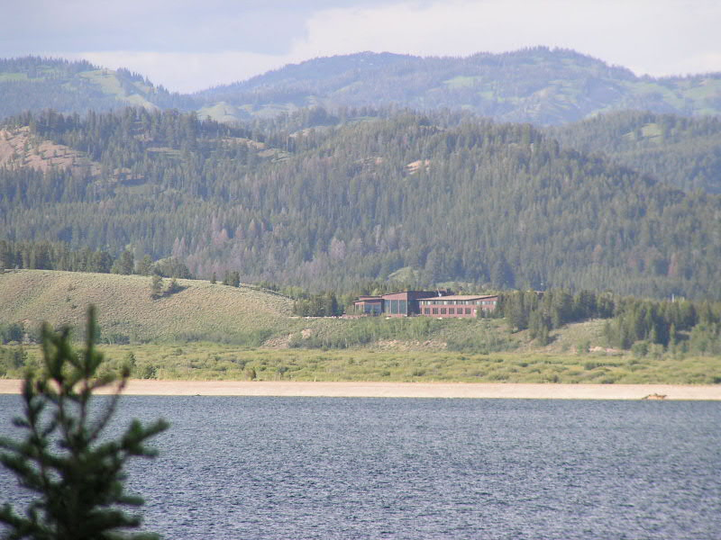 1. Driving up the road from Signal Mtn, you can catch a glimpse of Jackson Lake Lodge off in the distance.